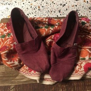 Cranberry colored TOMS